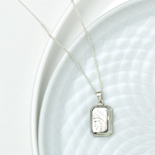 Square Locket Necklace