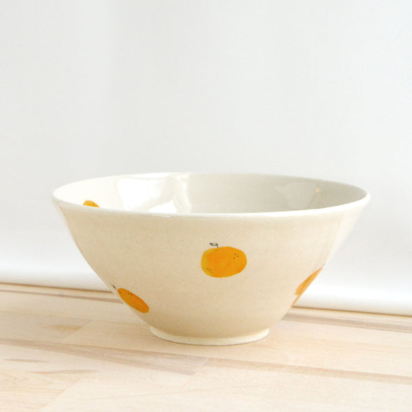 Tapered Tangerine Bowl