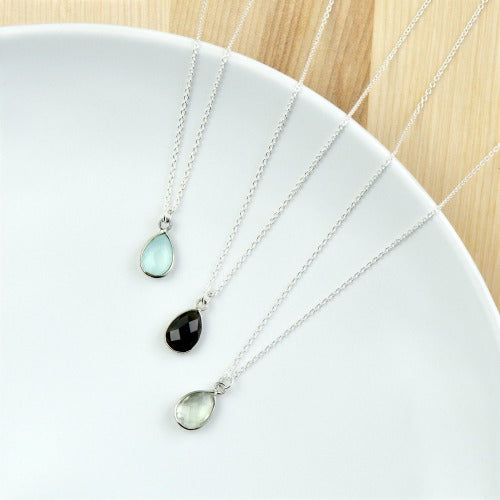 Teardrop Stone Necklace