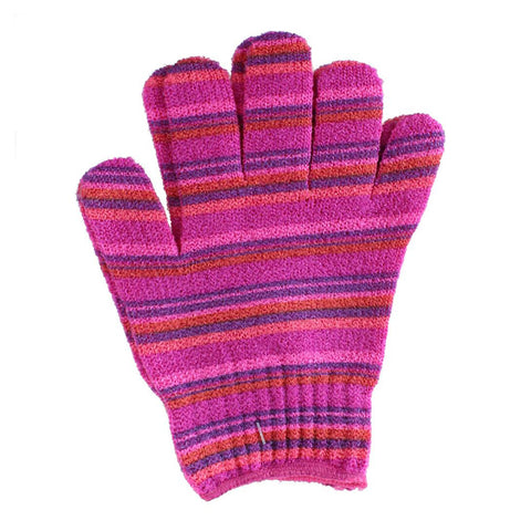 Exfoliating Gloves - PINK STRIPE