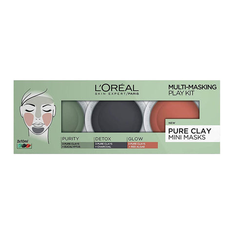 L'Oréal Pure Clay Mini Masks Multi-Masking Play Kit