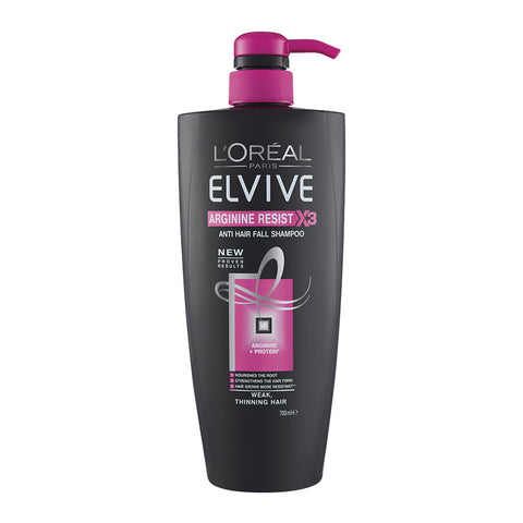 L'Oreal Elvive Arginine Resist X3 Shampoo 700ml Pump