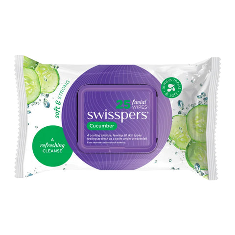 Swisspers Facial Wipes CUCUMBER 25pack
