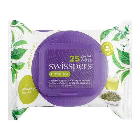 Swisspers Facial Wipes GREEN TEA 25pack