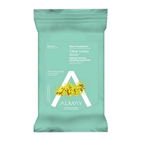 Almay Clear Complexion 4-in-1 Makeup Remover Cleansing 25 Towelettes