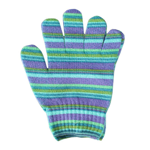 Exfoliating Gloves - BLUE STRIPE