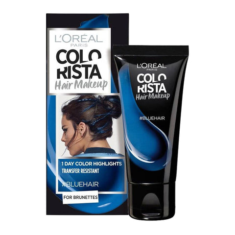 L'Oreal Colorista Hair Makeup 1 Day Colour Highlights #BLUE HAIR