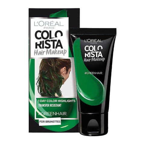 L'Oreal Colorista Hair Makeup 1 Day Colour Highlights #GREEN HAIR
