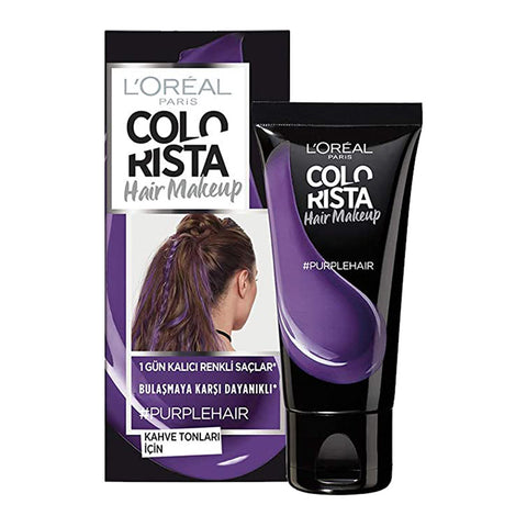 L'Oreal Colorista Hair Makeup 1 Day Colour Highlights #PURPLE HAIR