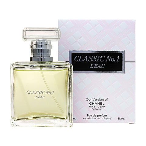 Classic No.1 L'eau EDP 90ml Spray (like No. 5 L'eau by Chanel)