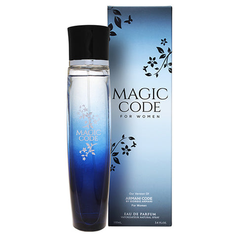 Magic Code for Women EDP 100ml Spray (like Armani Code by Giorgio Armani)