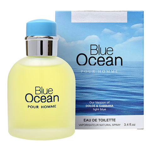 Blue Ocean Pour Homme Edt 100ml Spray Like Light Blue Pour Homme By