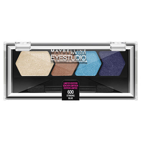 Maybelline Eye Studio Color Plush Quad 600 STRIKING BLUE