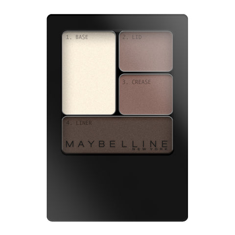 Maybelline Expert Wear Eyeshadow Quad 02Q NATURAL SMOKES