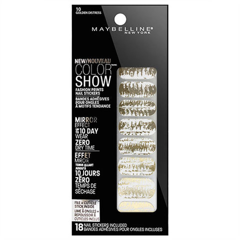 Maybelline Color Show Nail Stickers 10 GOLDEN DISTRESS
