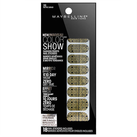 Maybelline Color Show Nail Stickers 20 AZTEC GOLD