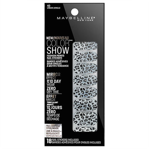 Maybelline Color Show Nail Stickers 40 URBAN JUNGLE