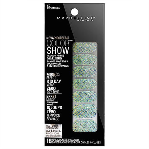 Maybelline Color Show Nail Stickers 50 SILVER SPARKS