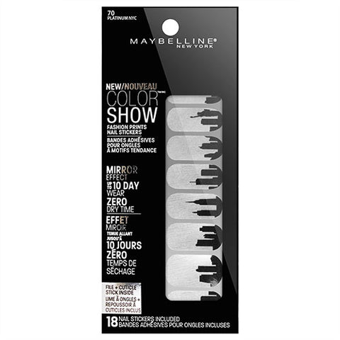 Maybelline Color Show Nail Stickers 70 PLATINUM NYC