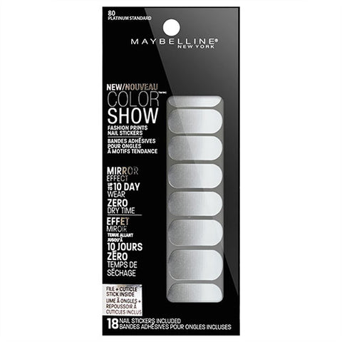 Maybelline Color Show Nail Stickers 80 PLATINUM STANDARD