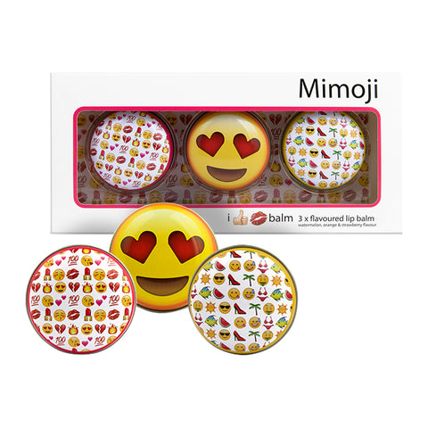 Mimoji Flavoured Lip Balm trio