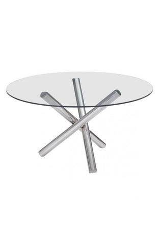 ZO-Stant Round Glass Top Table 54.3""