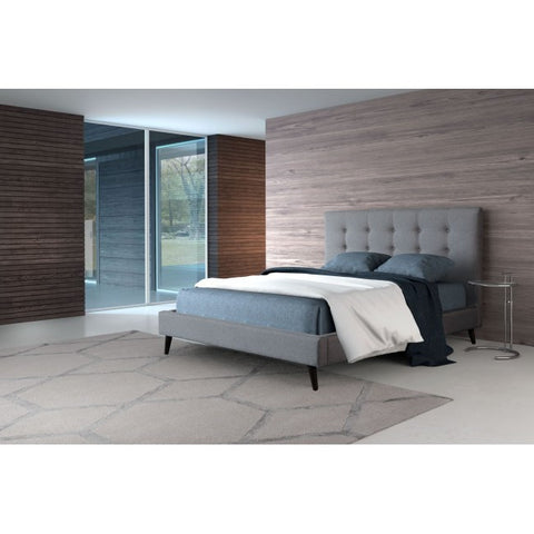 Modern Bed in Gray