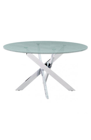 ZO-Stance Round Glass Top Table 55""