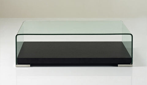 "Modern Coffee Table 159A   47""x23""14H  wood base with glass"