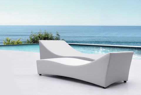 Gentila Lounge Chaise - outdoor, white, washable - 1 left in stock - Floor Model