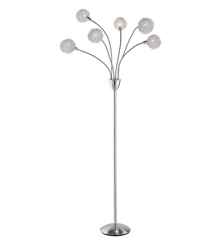 Floor Lamp with 6 pompoms