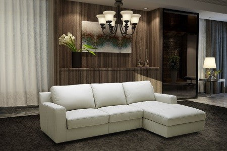 Lauren Leather Sectional Sleeper