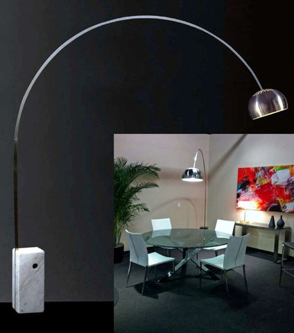 Arc Floor Lamp with Marble Base