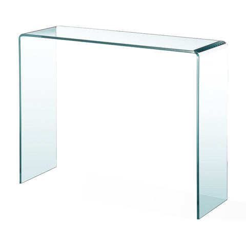 Glass Console  - 47.2 x 15 x 30.7- 12mm thick curved glass