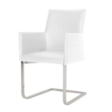 Modern Dining Chair with Arms  in white & black -ON SALE- incl.shipping BO3620