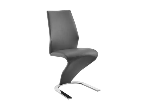 Gray Eco-Leather Dining Chair