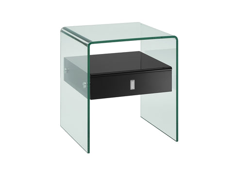 Bari Black Nightstand
