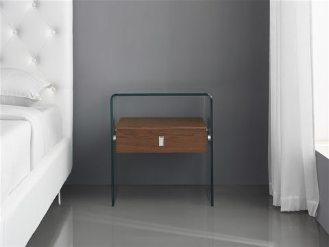 Bari Walnut Nightstand