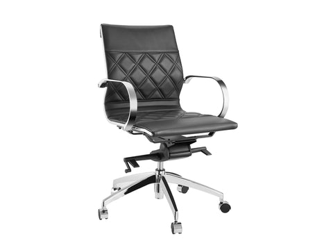 Lider Black or White Leather Office Chair