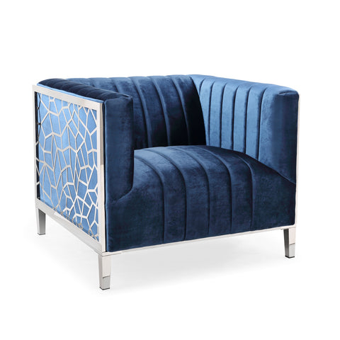 Conrad Velvet Accent Chair
