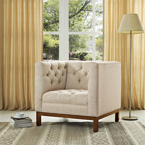 Chair Upholstered Fabric Lanache Chair (tufted) available in multiple colors