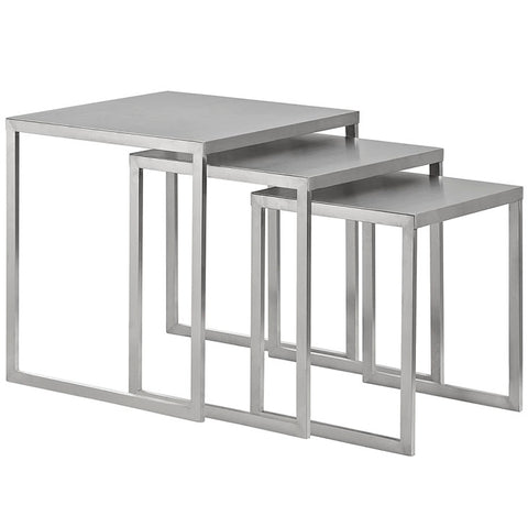 Nesting Tables - Stainless Steel