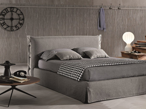 Gloria Bed - Storage bed - in Queen and King size - easy clean fabric in grey