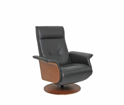 Fjord - HANS - Leather Swivel Motorized Recliner - stylish and comfortable !