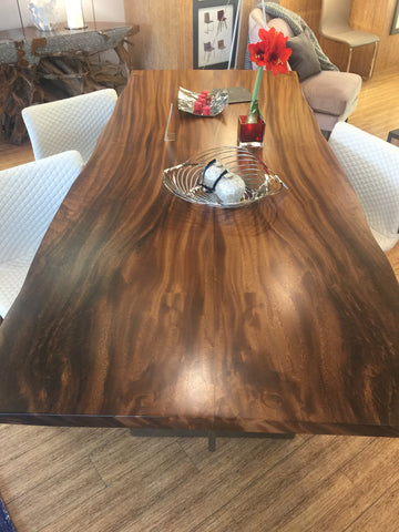 Valencia Dining Table - live edge, solid Teakwood