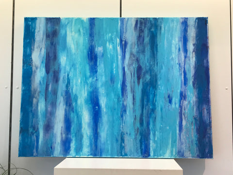 "Art by SK - Blue Series1  30""x40"" (Mixed Media on Canvas)"