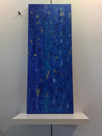 "Art by SK - Blue Series2 12""x36"" (Mixed Media on Canvas)"