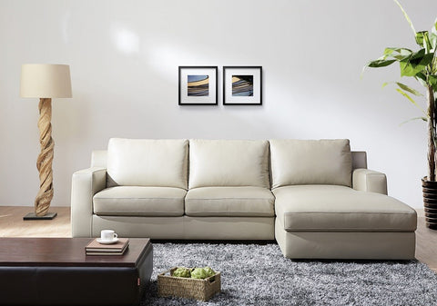 Jenny Leather Sectional Sleeper