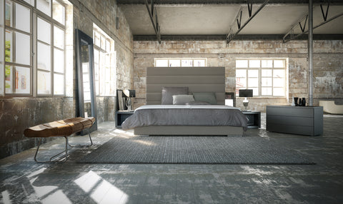 Prince Bed King size by Modloft - available in grey, white and black
