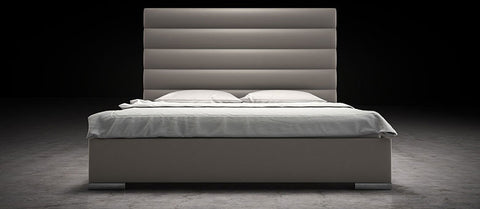 Prince Bed Queen size by Modloft - available in grey, white and black